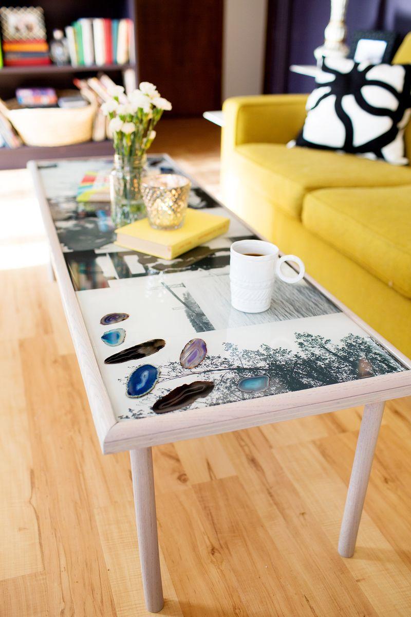 DIY Epoxy Resin Coffee Table A Beautiful Mess Bloglovin