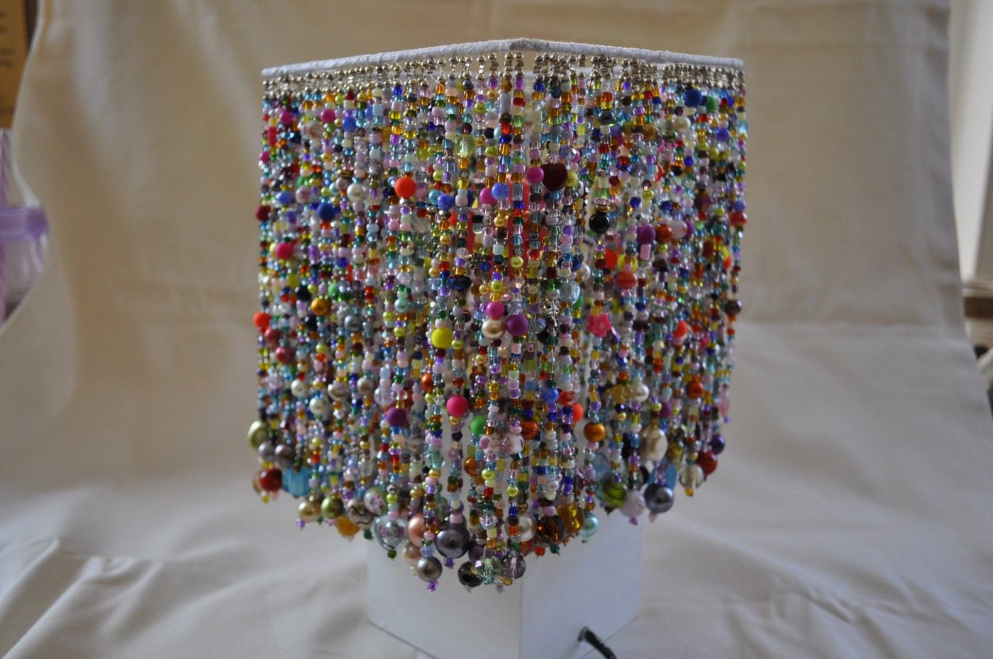 Hand beaded lampshade No:1