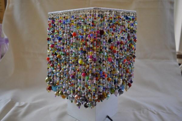 Hand beaded lampshade No:1
