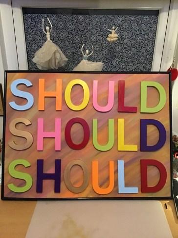 Word art: SHOULD 5
