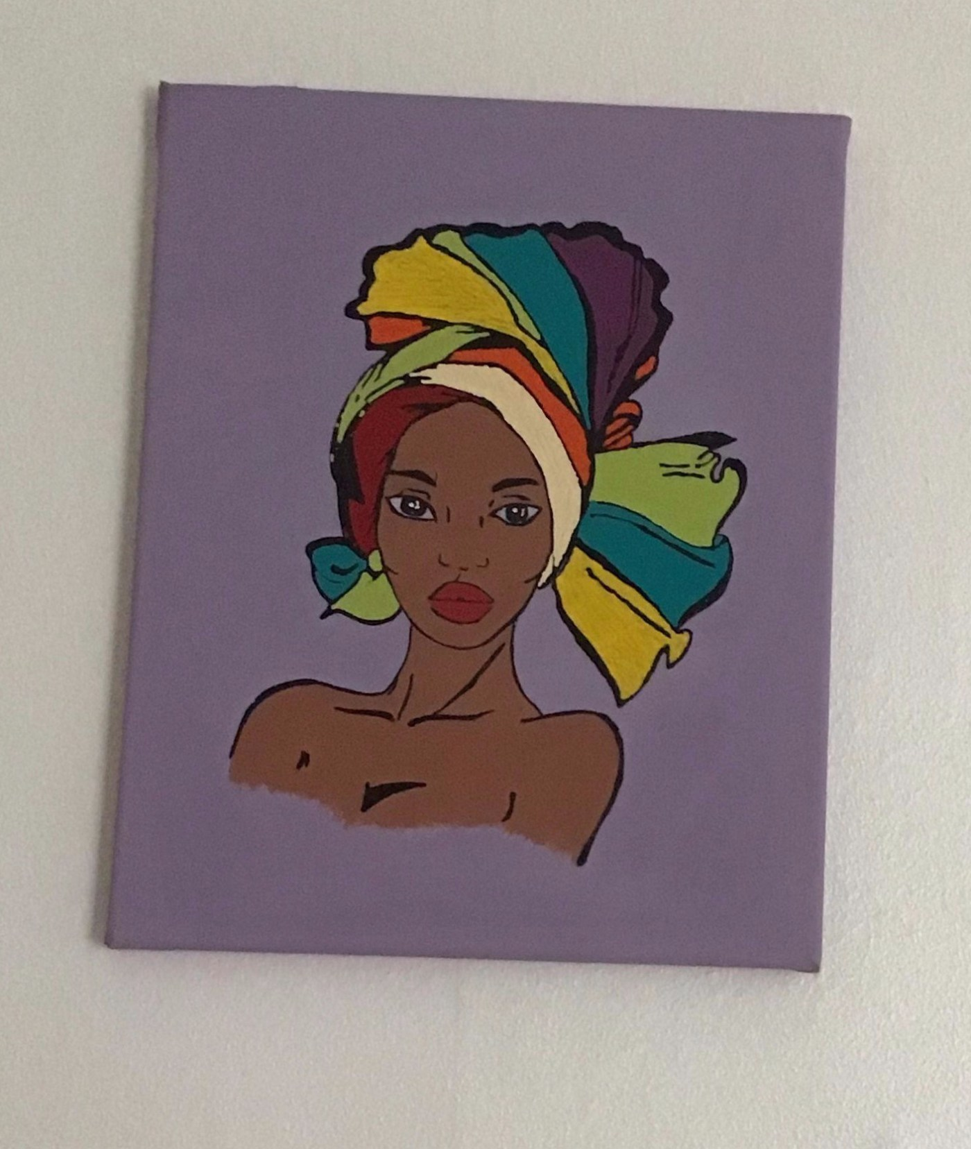 African lady 4 - lilac