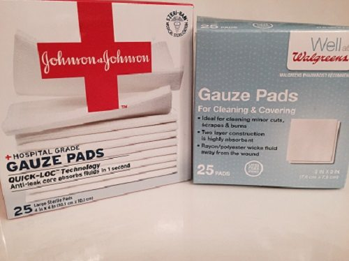 Using gauze for natural skin care