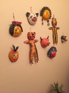 coconut masks from Mexico