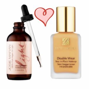 Estee Lauder Double Wear and Josie Maran