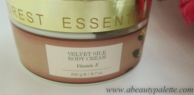 Forest Essentials Velvet Silk Body Cream Vitamin E