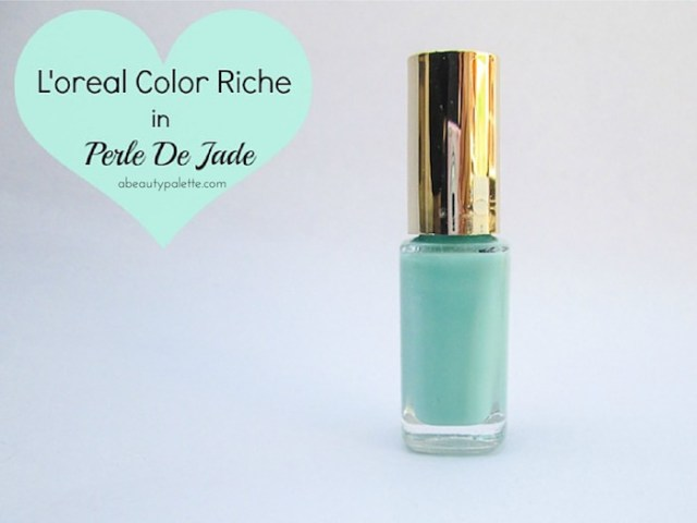 L'oreal Color Riche Nail Paint in Perle De Jade