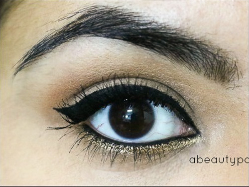 Gold gliiter eyes tutorial