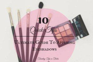 how to apply eyeshadows