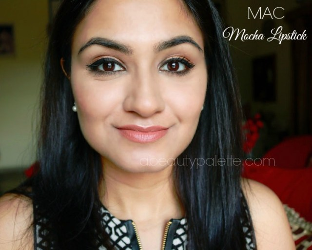 MAC Satin Lipstick- Mocha on Indian skintone