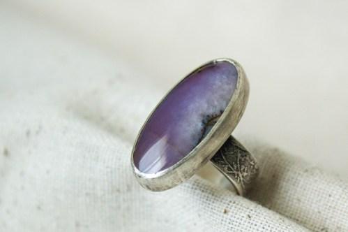 Violet Statement Ring