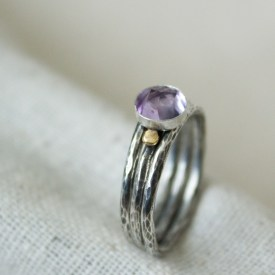 handmade gemstone stacking ring
