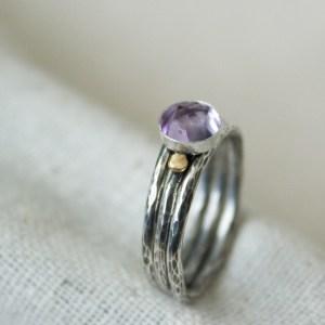 handmade gemstone stacking ring