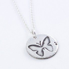 Woodland Butterfly Necklace - Abella Blue