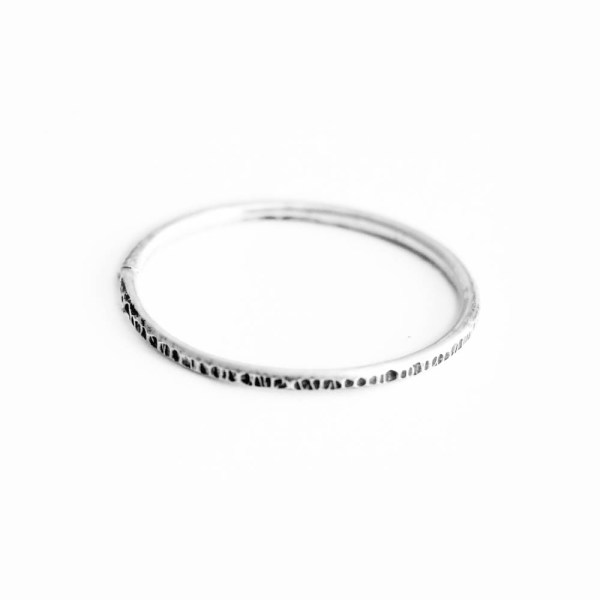 Minimalist Textured Stacking Ring