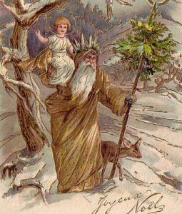 Jeg holder meget at de julekort, hvor både julemanden og Christkindl er på!