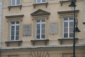 Académie des Beaux Arts à Varsovie où se trouve l'ancien appartement de Frédéric Chopin qu'il occupât avant son départ pour Paris