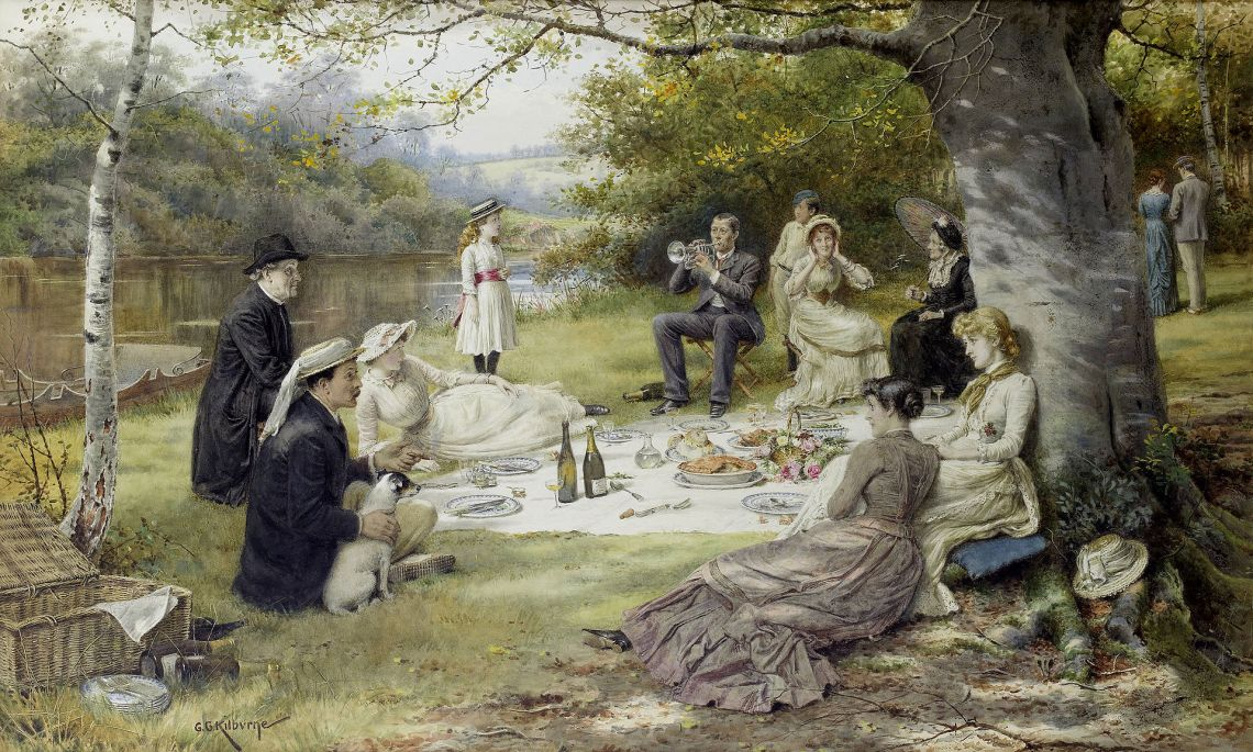 George_Goodwin_Kilburne_The_Picnic