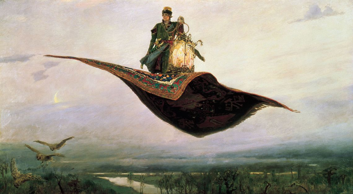 The Flying Carpet, a depiction of the hero of Russian folklore, Ivan Tsarevich