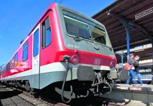 Nach Ankunft in Szczecin (Stettin) - ein Triebwagen der Baureihe VT 628 als RE aus Berlin