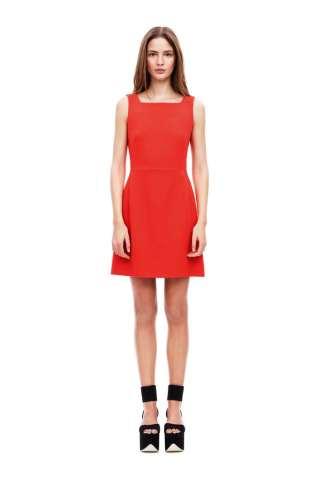 Victoria Beckham Kleid Sunset-Rot