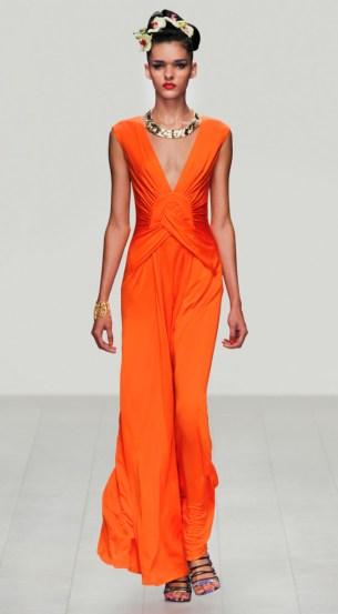 Issa Abendkleid orange
