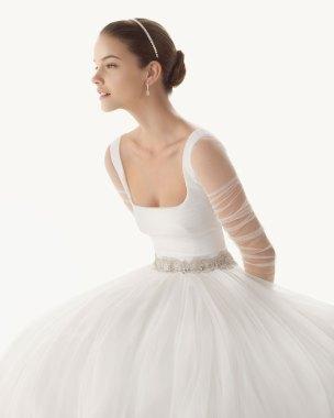 Brautkleid mit Tüllrock, Rosa Clara