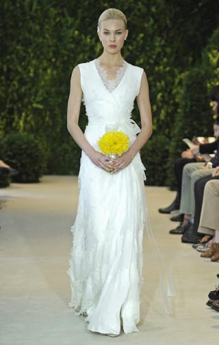 Schlichtes Brautkleid, Carolina Herrera