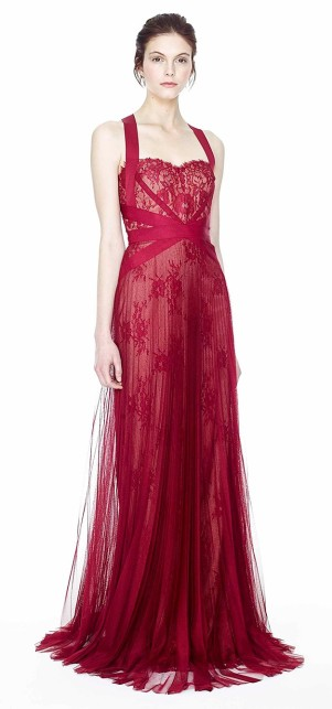 Rotes Abendkleid - Red Carpet - Marchesa Notte 2014