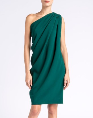 smaragdgrünes LANVIN Kleid, asymmetrisch