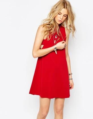 Asos rotes kleid mit spitze