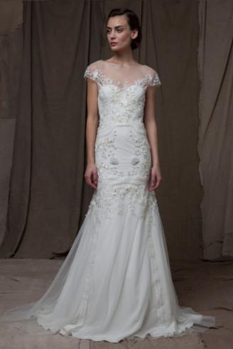 Lela Rose Promi Brautkleider - Meerjungfrau Brautkleid weiß