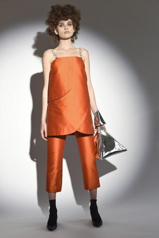 Kleid mit Kettenträgern mit Hose orange - Isa Arfen 2017 Resort
