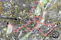 Route der critical mass am 17.07.2015