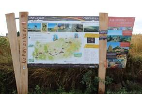 Die erste Etappe führt uns von Le Puy nach St. Privat d'Allier.