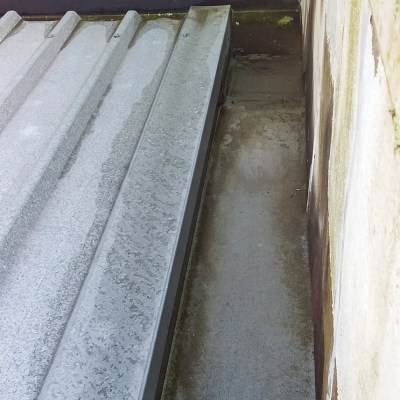 internal gutter over existing butynol
