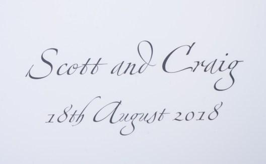 Scott and Craig Wedding album