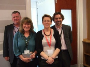 Kate with the SOC 2014, Martin Doran,  Mary Alexander and Dave Moxham, STUC