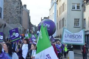 Aberdeenshire UNISON banner