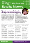 Branch Equalities Newsletter - Equality Matters - March 2021 issue out now