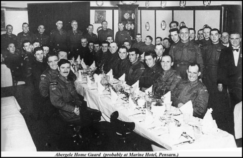photos from the Dennis Parr Collection of the Abergele Home Guard: