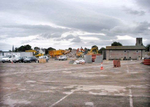 Building Tesco Abergele before its opening Photo Sion Jones