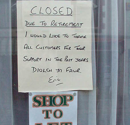 Eric the Barber's shop closed in 2001