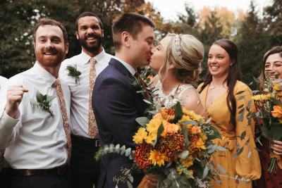 carly + tyler: exceptionally designed and thoughtful autumn toned wedding at the Abernethy Center