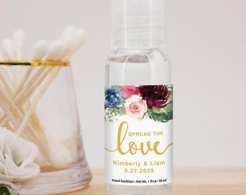 wedding favor hand sanitizer