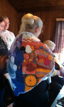 Look at Barbara's beautiful freeform crochet shawl!