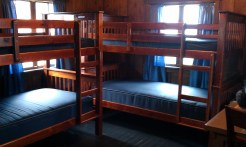 Moving my stuff over to my new cabin for my extended stay. The second row cabins have two sets of bunk beds and a full size bed.