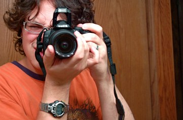 Here's me and my new camera. Wicked-awesome!