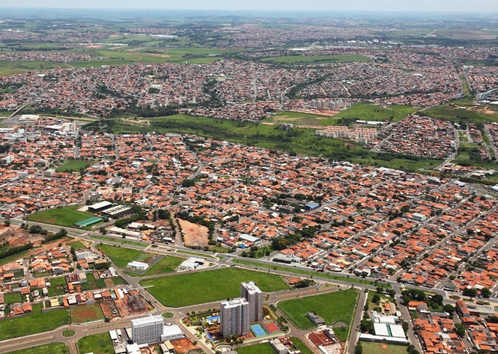 Foto da vista de cima da cidade de Hortolândia