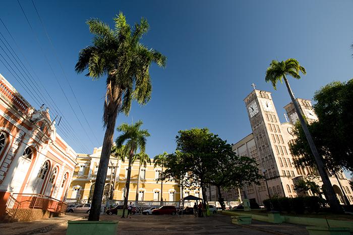 Foto da praça do município, representando abrir empresa em Cuiabá