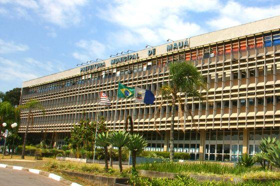 Foto da fachada da Prefeitura, representando abrir empresa em Mauá